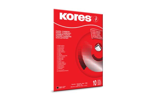 KORES Durchschreibpapier 1200 A4 KD78966 schwarz M 10 Blatt