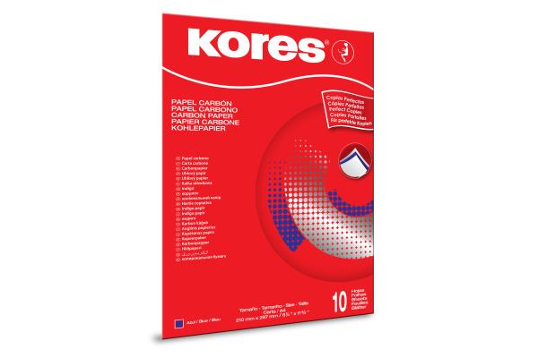 KORES Durchschreibpapier 1200 A4 KD79086 blau M 10 Blatt