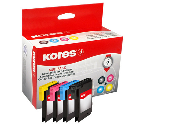 KORES Multipack Tinte CMYBK LC-985VAL zu Brother DCP-J315W 10/3x6ml