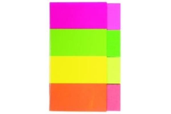 KORES PAGEMARKER 20x50mm N45104 neon 4-farbig/4x50 Blatt