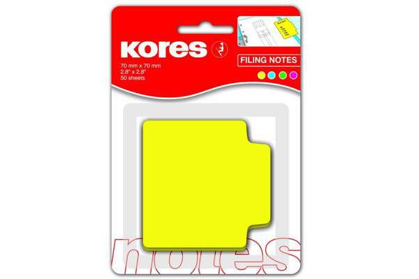 KORES NOTES REGISTER 70x70mm N45107 Papier