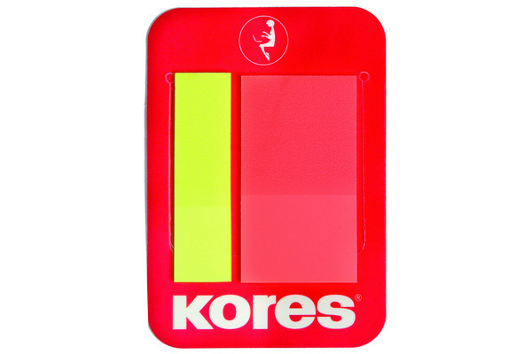 KORES NOTES INDEX 45x12/22mm N45122 m. Clip, gelb, rot/2x25 Blatt