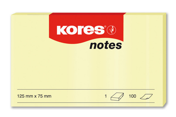 KORES NOTES 125x75mm N46125 gelb/100 Blatt