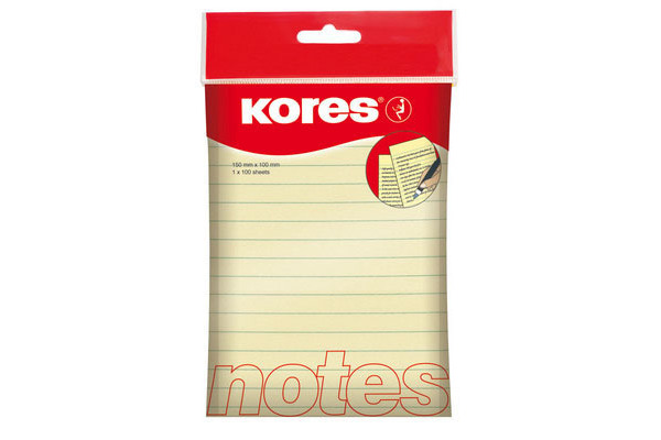 KORES NOTES 100x150mm N46510 gelb liniert/100 Blatt