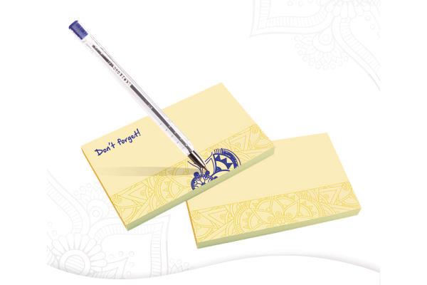 KORES Haftnotizen Mandala 125x75mm N48250 gelb, 100 Blatt