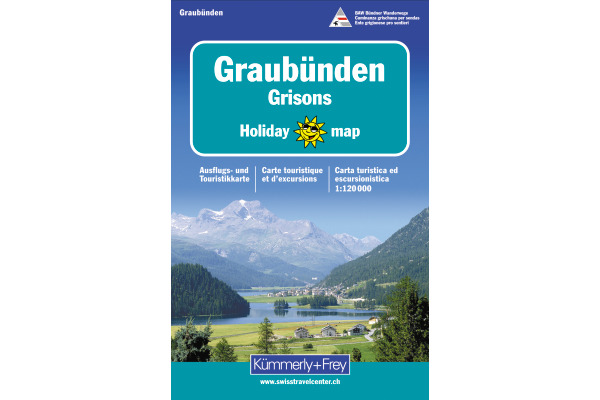 KÜMMERLY Holiday Map 325900907 Graubünden 1:120´000