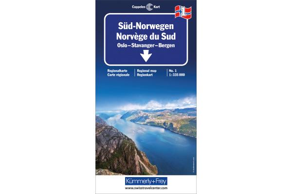 KÜMMERLY Strassenkarte 325901031 Norwegen Süd 1 1:335´000