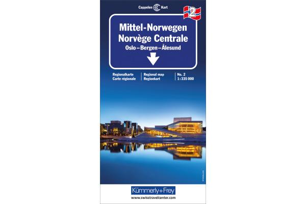 KÜMMERLY Strassenkarte 325901032 Norwegen 2 1:335´000
