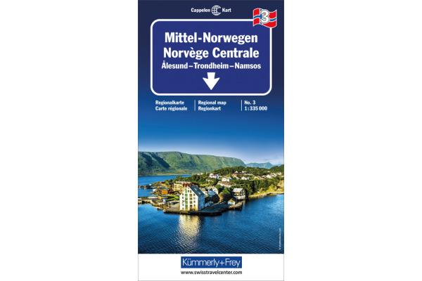 KÜMMERLY Strassenkarte 325901033 Norwegen 3 1:335´000