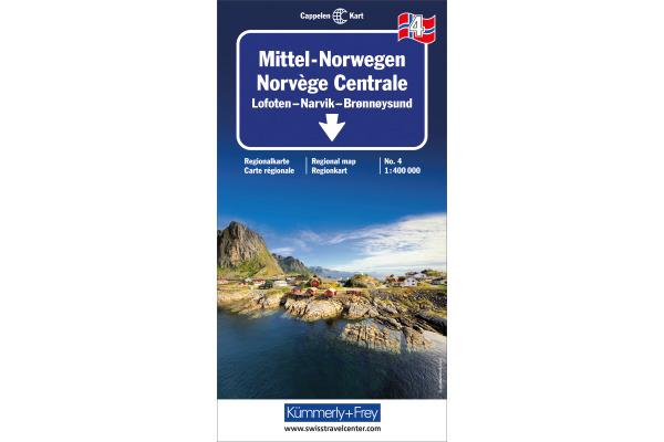KÜMMERLY Strassenkarte 325901034 Norwegen 4 1:400´000