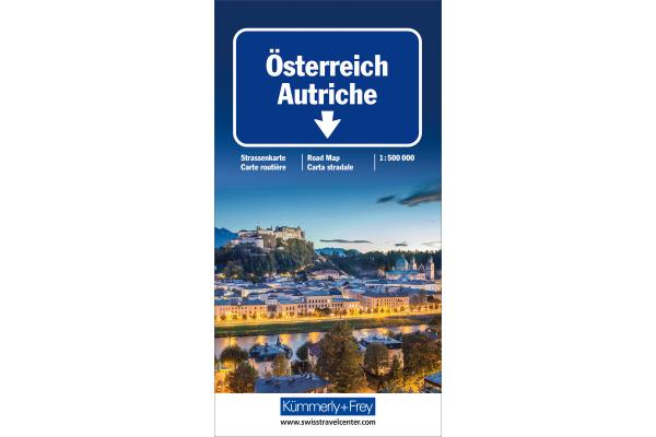 KÜMMERLY Strassenkarte 325901115 Österreich 1:500´000