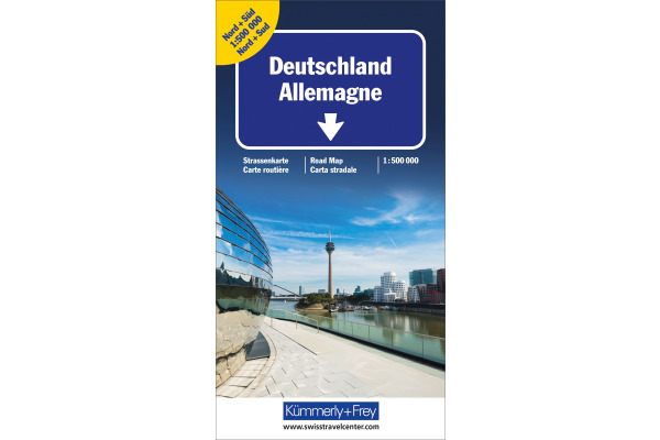 KÜMMERLY Strassenkarte 325901117 Deutschland Doppel. 1:500´000