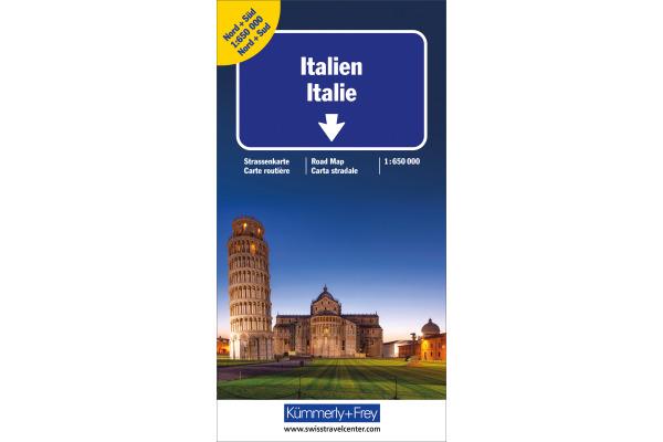 KÜMMERLY Strassenkarte N+S 325901119 Italien Doppelkarte 1:650´000