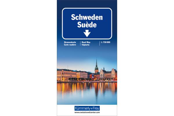 KÜMMERLY+FREY Strassenkarte 325901158 Schweden...