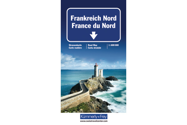 KÜMMERLY Strassenkarte 325901200 Frankreich-Nord 1:600´000