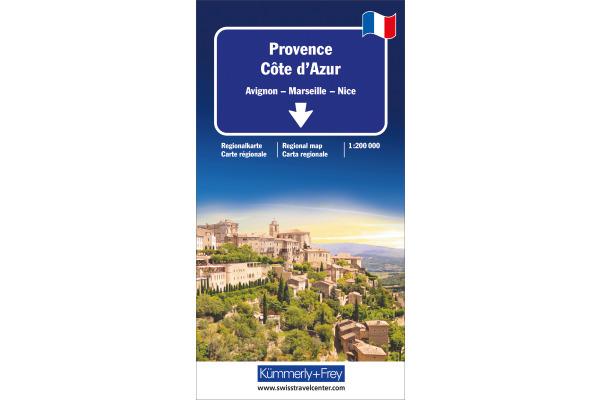 KÜMMERLY Strassenkarte 325901451 Provence-Côte d´Azur 1:200´000