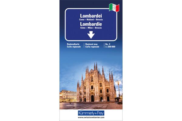 KÜMMERLY Strassenkarte 325901472 Lombardei 1:200´000