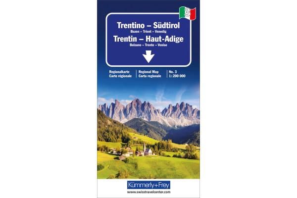 KÜMMERLY Strassenkarte 325901473 Trentino-Südtirol 1:200´000