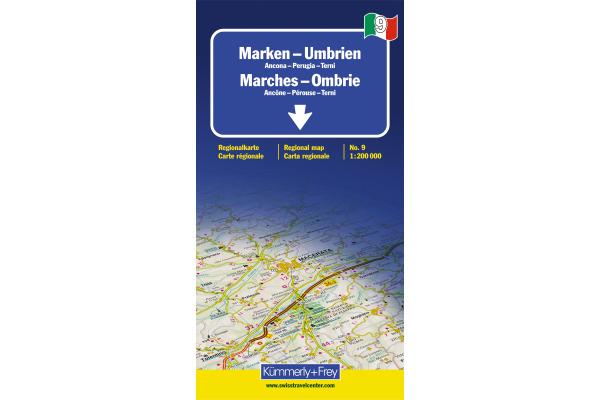 KÜMMERLY Strassenkarte 325901479 Umbrien-Marken 1:200´000