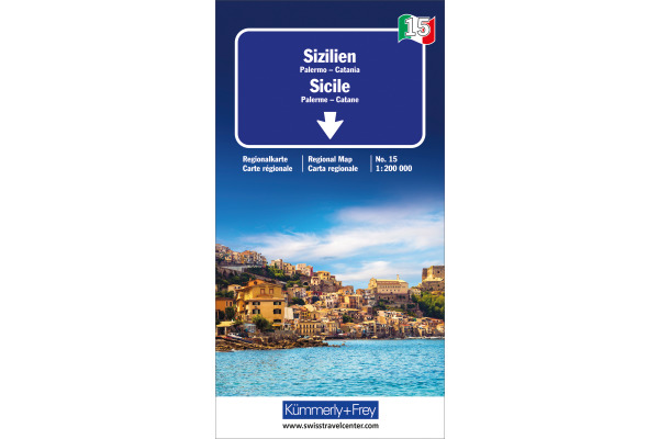 KÜMMERLY Strassenkarte 325901485 Sizilien 1:200´000