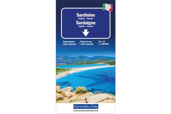 KÜMMERLY Strassenkarte 325901486 Sardinien 1:200´000