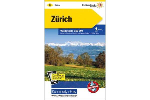 KÜMMERLY Wanderkarte 325902206 Zürich 1:60´000