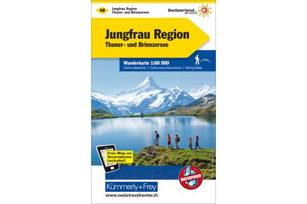 KÜMMERLY Wanderkarte 325902218 Jungfrau-Region 1:60´000