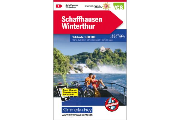 KÜMMERLY Velokarte 1:60´000 325902401 Schaffhausen-Winterthur