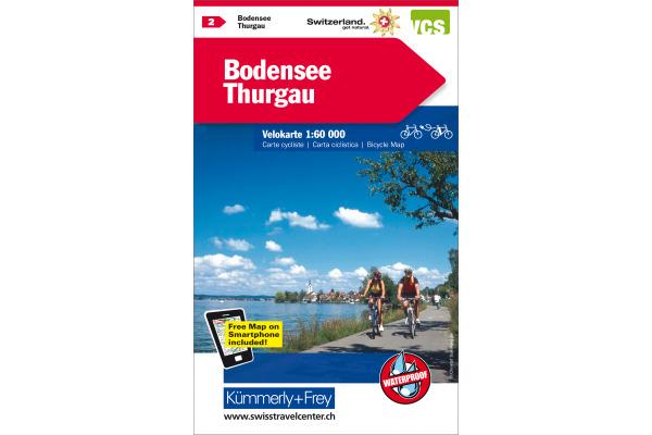 KÜMMERLY Velokarte 325902402 Bodensee-Thurgau 1:60´000