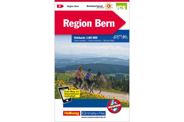 KÜMMERLY+FREY Velokarte 3259024096 Region Bern...