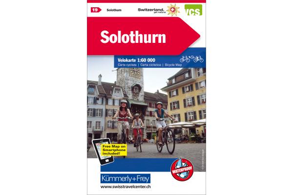 KÜMMERLY+FREY Velokarte 325902419 Solothurn 1:60000