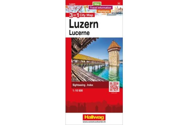KÜMMERLY Stadtplan 11x17cm 382830877 Luzern 1:10´500