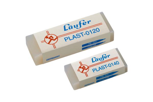 LÄUFER Plast-Radierer 46x20x9mm 0140 mit Kartonmanschette