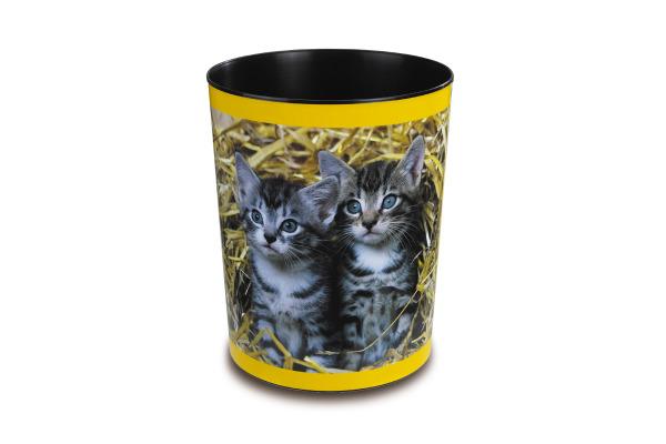 LÄUFER Papierkorb 26654 Katzenkinder 13lt
