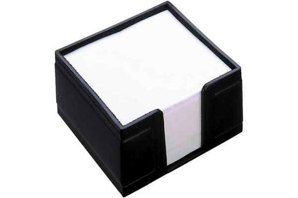 LÄUFER Zettelbox Monza 34126 schwarz 10x10x5cm