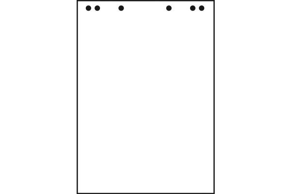 LANDRE Flipchartblöcke blanko 10050593 20 Blatt, 80g 680x990mm