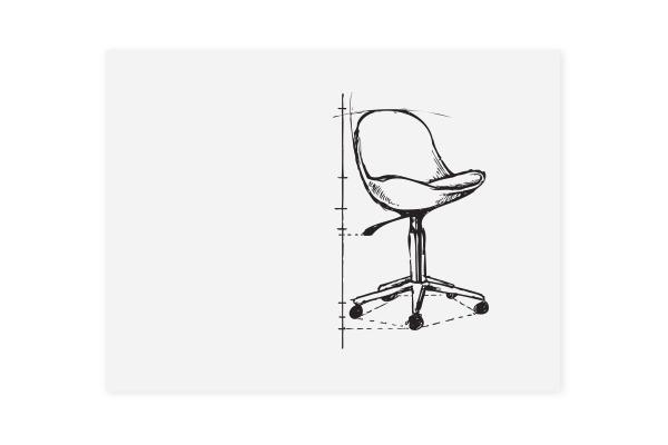 LEGAMASTE Whiteboard 100x75x10cm 7-106310 Board-UP Lackierter Stahl