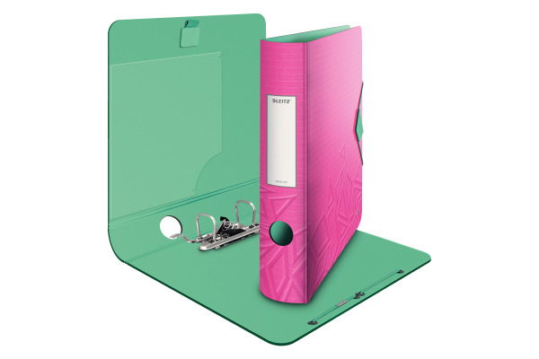LEITZ Qualitäts-Ordner 180° 6,2cm 11170022 pink met., Urban Chic A4