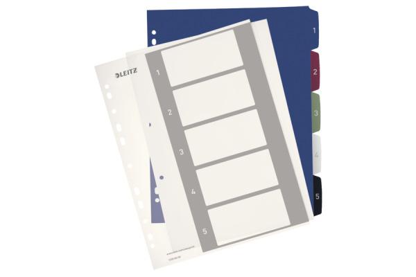 LEITZ Register PC-beschriftbar A4+ 12350000 Style, 1-5 multicolor