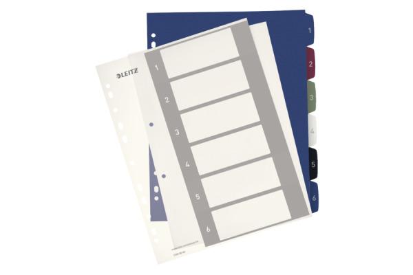 LEITZ Register PC-beschriftbar A4+ 12360000 Style, 1-6 multicolor