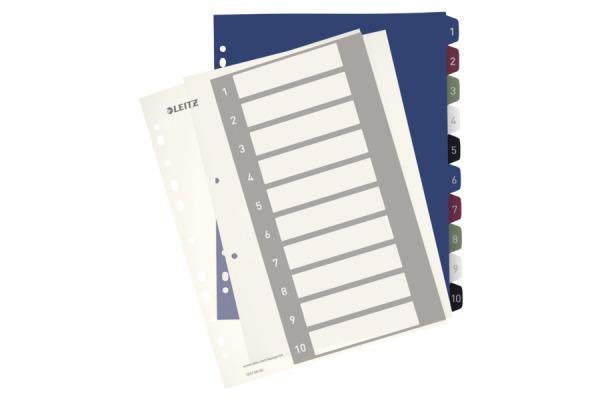 LEITZ Register PC-beschriftbar A4+ 12370000 Style, 1-10 multicolor