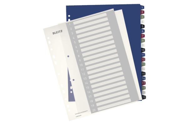 LEITZ Register PC-beschriftbar A4+ 12390000 Style, 1-20 multicolor