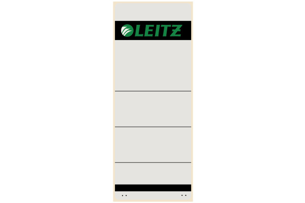 LEITZ Rückenschilder grau, liniert 1647-00-8 Selbstklebend, 61x157mm 10Stk.