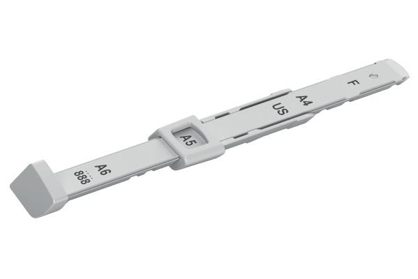 LEITZ Anschlagschiene grau 1729-00-8 für Locher