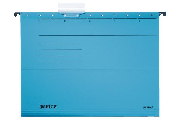 LEITZ Hängemappe Alpha A4 19853035 blau 5...
