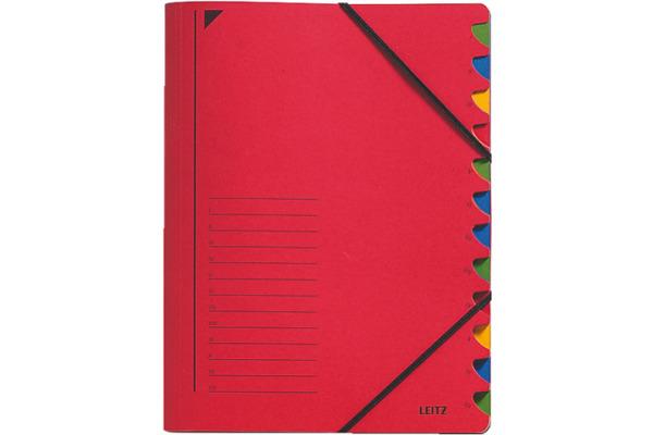 LEITZ Ordnungsmappe A4 39120025 rot 12 Fächer