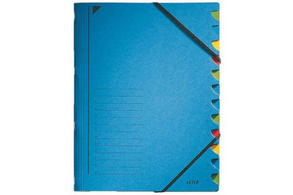 LEITZ Ordnungsmappe A4 39120035 blau 12 Fächer