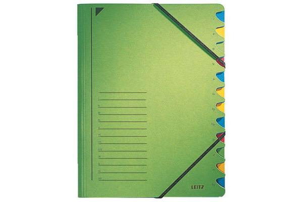 LEITZ Ordnungsmappe A4 39120055 grün 12...