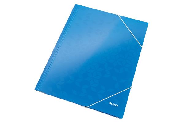 LEITZ Eckspannermappe WOW A4 39820036 blau