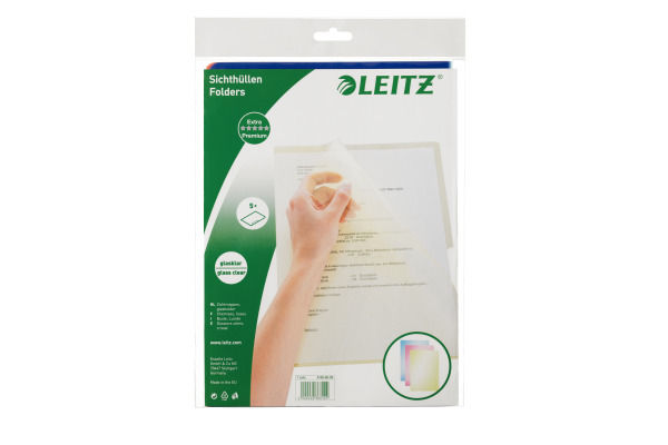 LEITZ Premium Sichthülle PVC A4 41006099 transparent 5 Stück